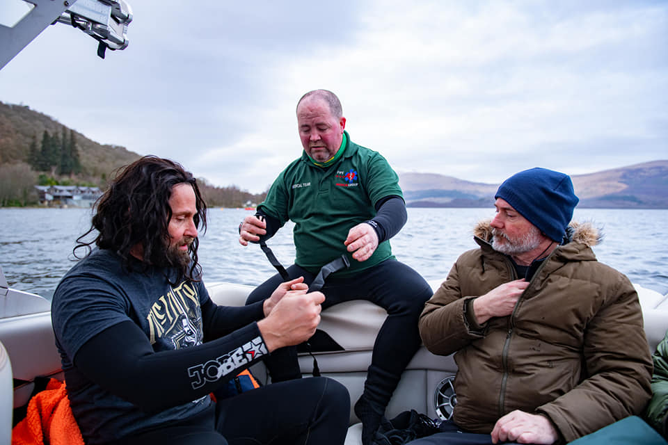 fife medical events on film set with ally mccoist and wwe wrestler drew mcintyre