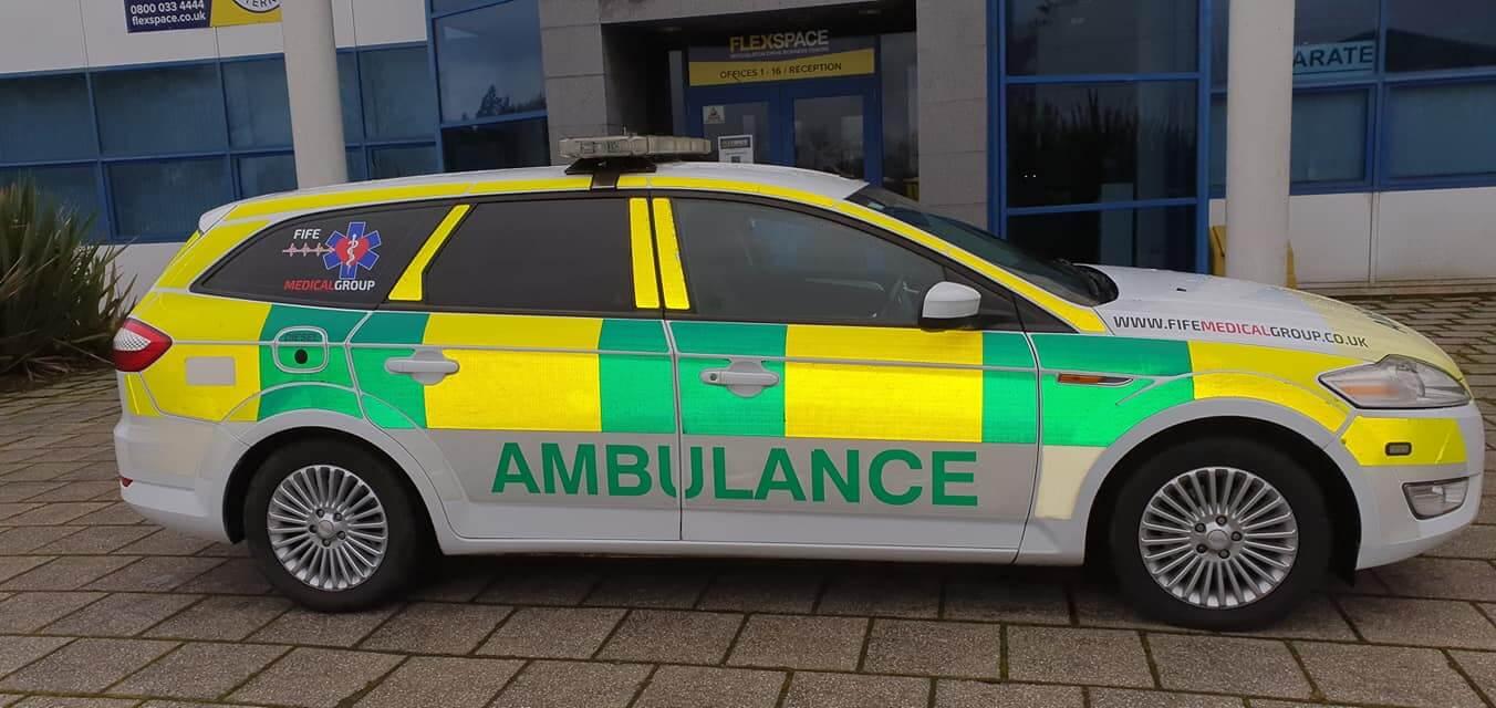 fife first aid training ambulance