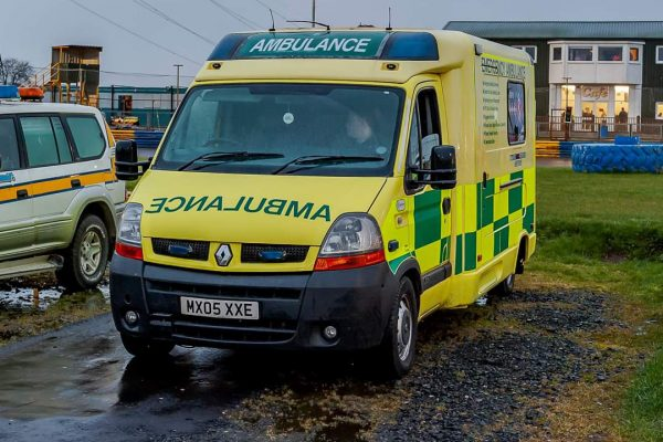 AMBULANCE PARKED UP AT EVENT - FIFE MEDICAL GROUP