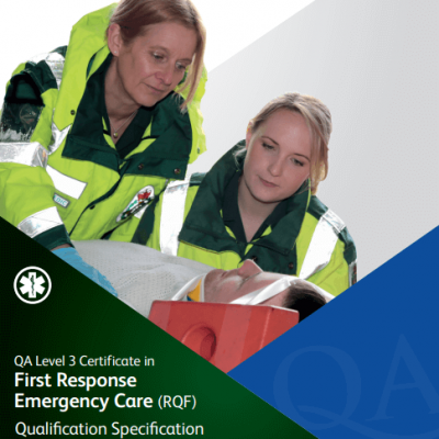 Level 3 certificate in first response emergency care RQF fife first aid training kirkcaldy serving scotland and uk