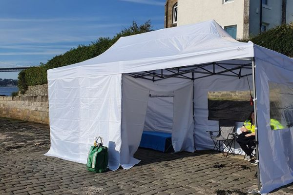 tent at event fife medical group